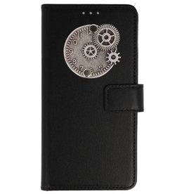 MP Case Nokia 6 2018 bookcase klok zilver