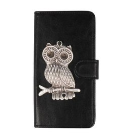 MP Case Huawei Y9 2018 bookcase uil zilver