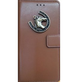 MP Case Bruin Sony Xperia XZ2 Compact bookcase paard brons