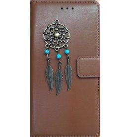 MP Case Bruin Sony Xperia XZ2 Compact bookcase dromenvanger brons