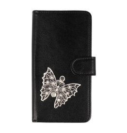 MP Case Samsung Galaxy A8 2018 bookcase vlinder zilver