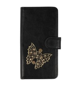MP Case LG G7 bookcase vlinder brons
