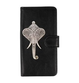 MP Case Huawei Y9 2018 bookcase olifant zilver
