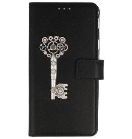 MP Case Nokia 1 bookcase sleutel zilver