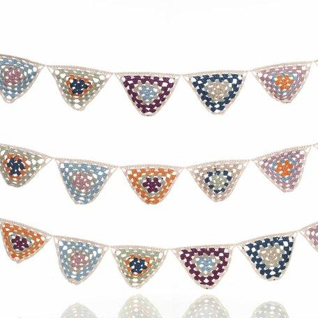 Crochet organic bunting