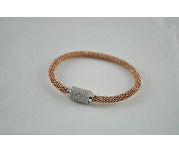 zilveren rose armband