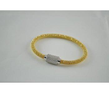 Zilveren goldplated armband