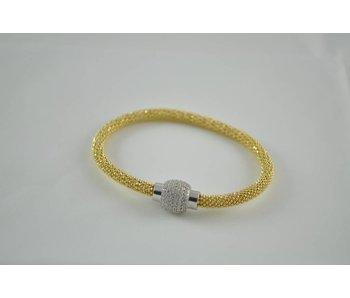 Zilveren goldplated armband rond