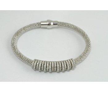 zilveren armband steentjes