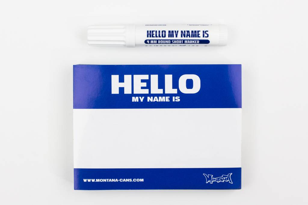 Montana HELLO MY NAME IS Sticker Pack