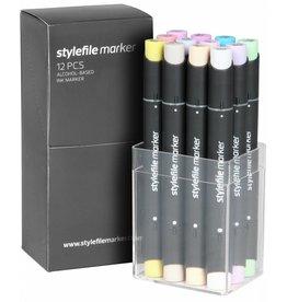 Stylefile MARKER 12er Set Pastell