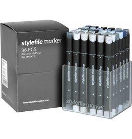 Stylefile MARKER 36er Set Grey