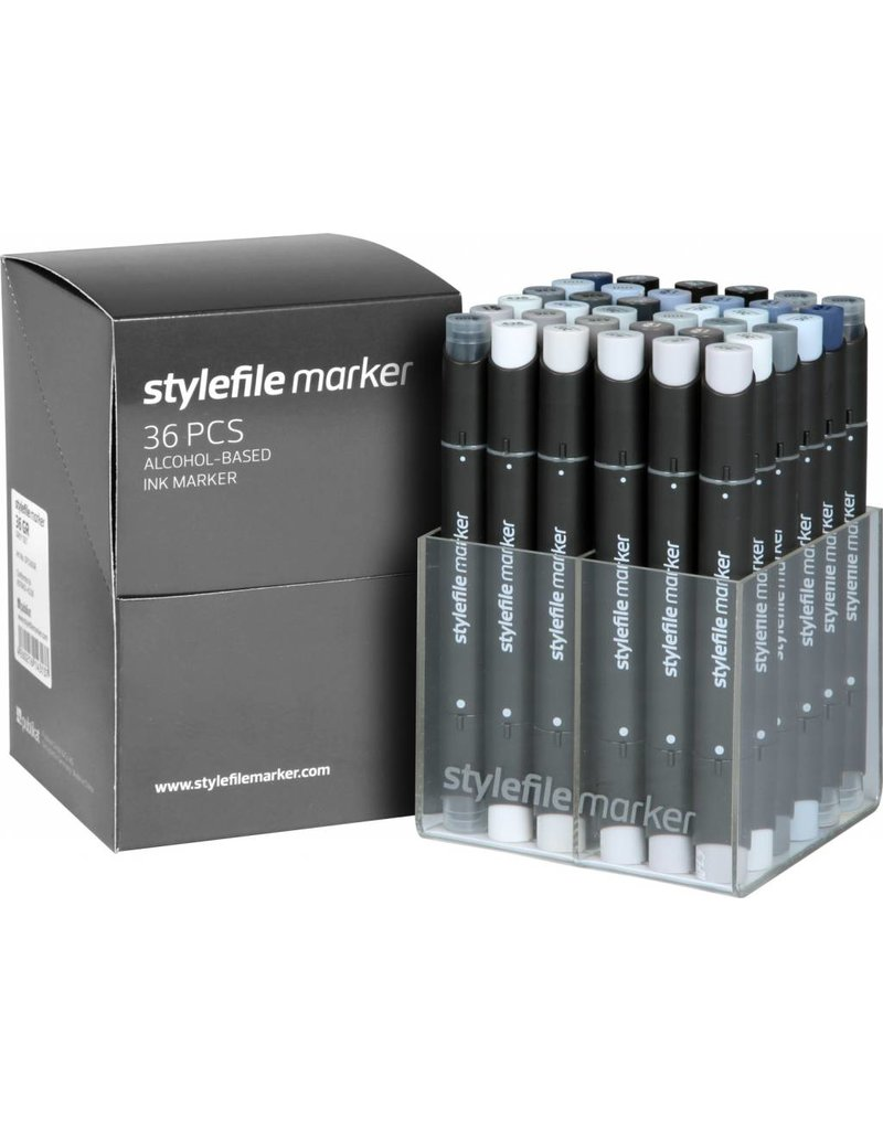 Stylefile MARKER 36er Set Grey