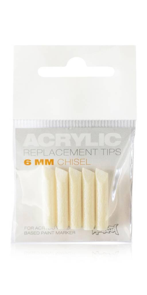 Montana ACRYLIC Tip 6mm Chisel