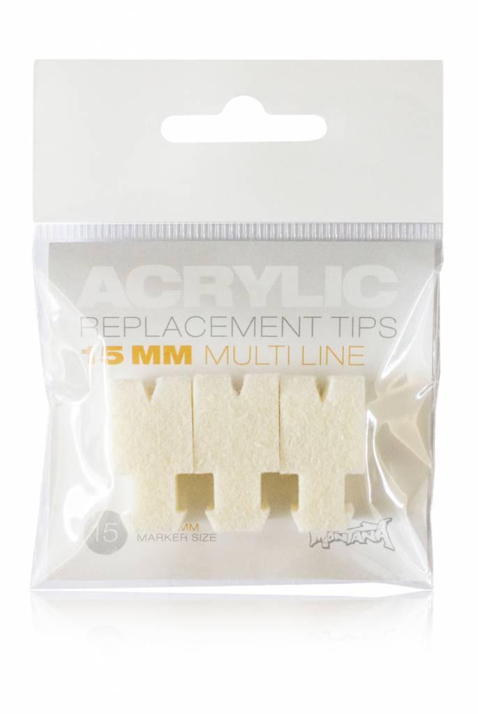 Montana ACRYLIC Tip 15mm Multi Line