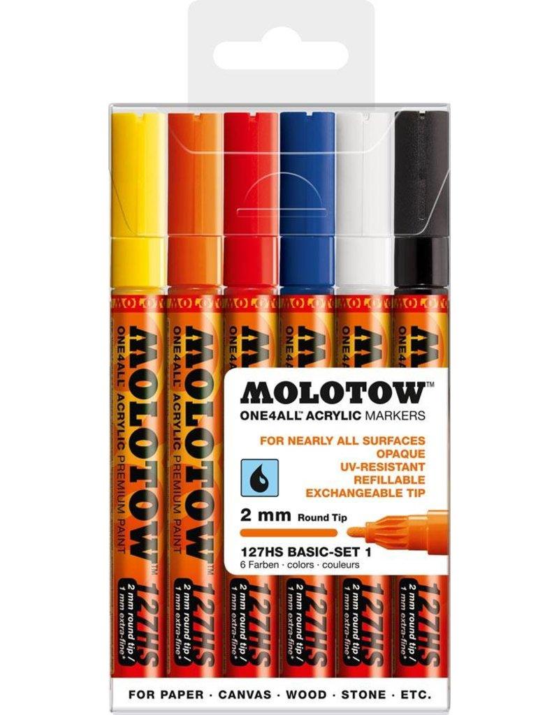 Molotow ONE4ALL 127HS Marker 6er Basic-Set 1