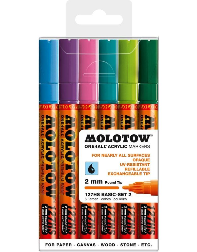 Molotow ONE4ALL 127HS Marker 6er Basic-Set 2