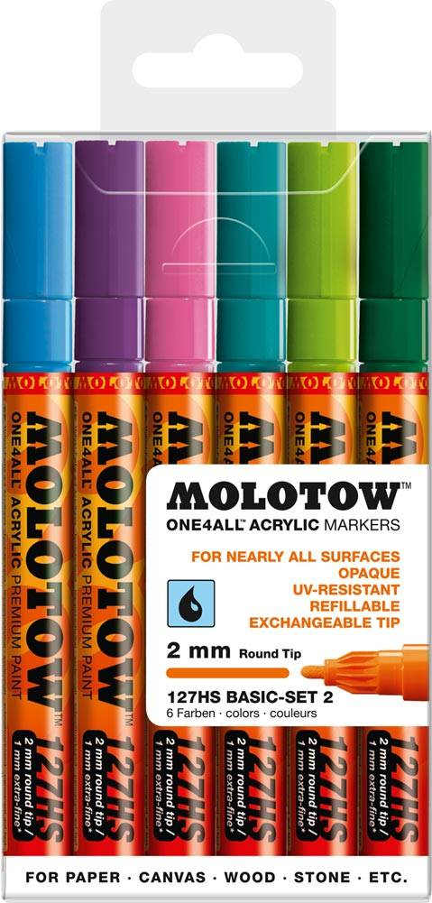 Molotow ONE4ALL 127HS Marker 6er Basic-Set 2