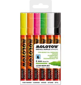 Molotow ONE4ALL 127HS Marker 6er Neon-Set