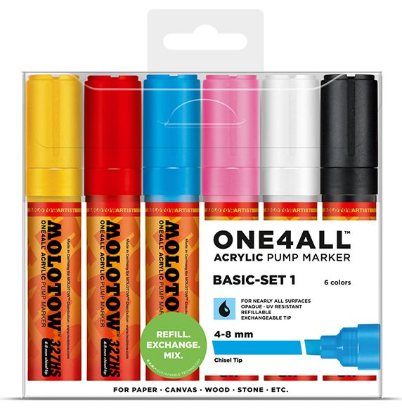 Molotow ONE4ALL 327HS Marker 6er Basic-Set 1
