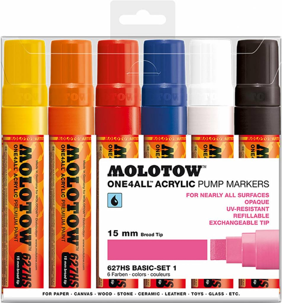 Molotow ONE4ALL 627HS Marker 6er Basic-Set 1