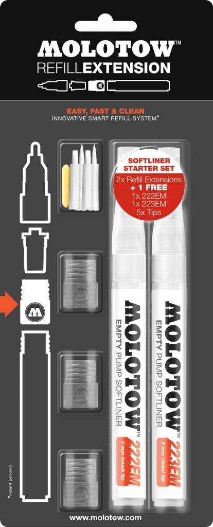 Molotow REFILL EXTENSION SOFTLINER Starter Kit