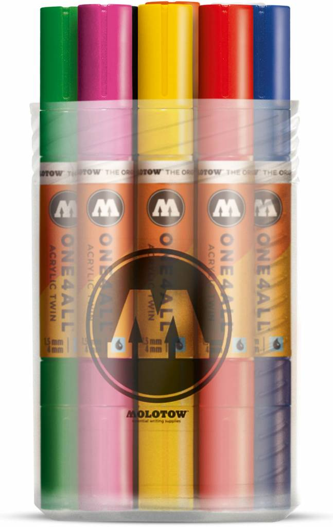 Molotow ONE4ALL Acrylic Twin 1,5/4mm Basic 12er Main-Set 1
