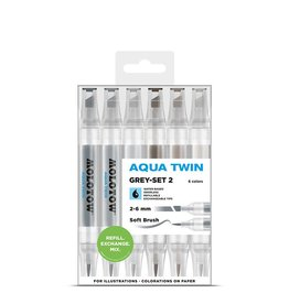Molotow AQUA TWIN Grey-Set 2