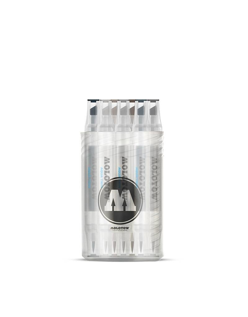 "Molotow  AQUA TWIN Complete Set ""Grey"""