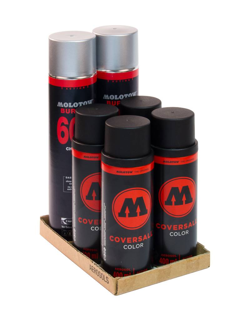 Molotow BURNER Chrome COVERSALL Action Pack