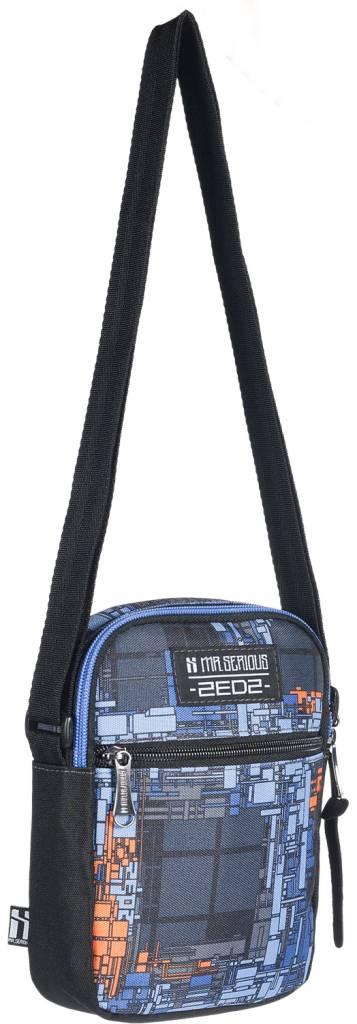 Mr. Serious PLATFORM POUCH Tasche blau