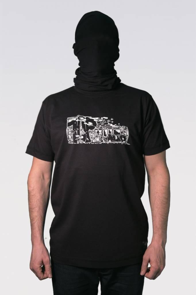 1UP TRAIN T-SHIRT black