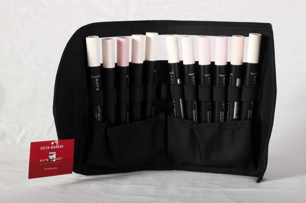 Delta Marker 12er Set Skin Colors inkl. Tasche