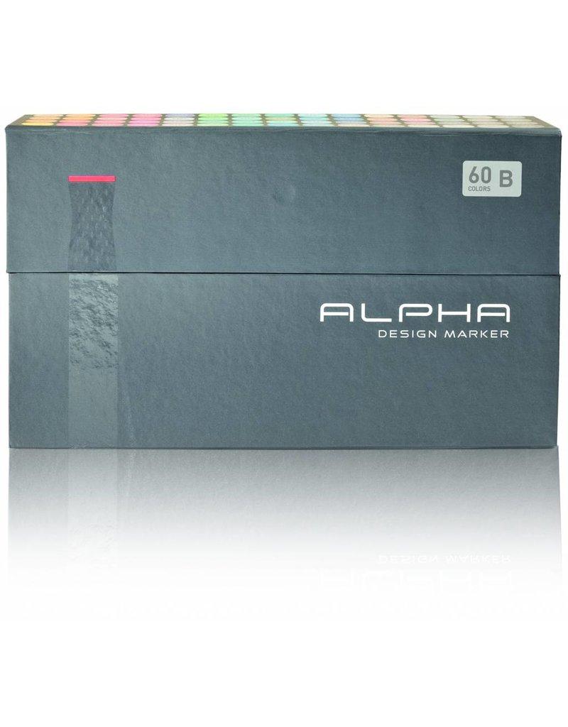 Alpha DESIGN MARKER 60er Set B