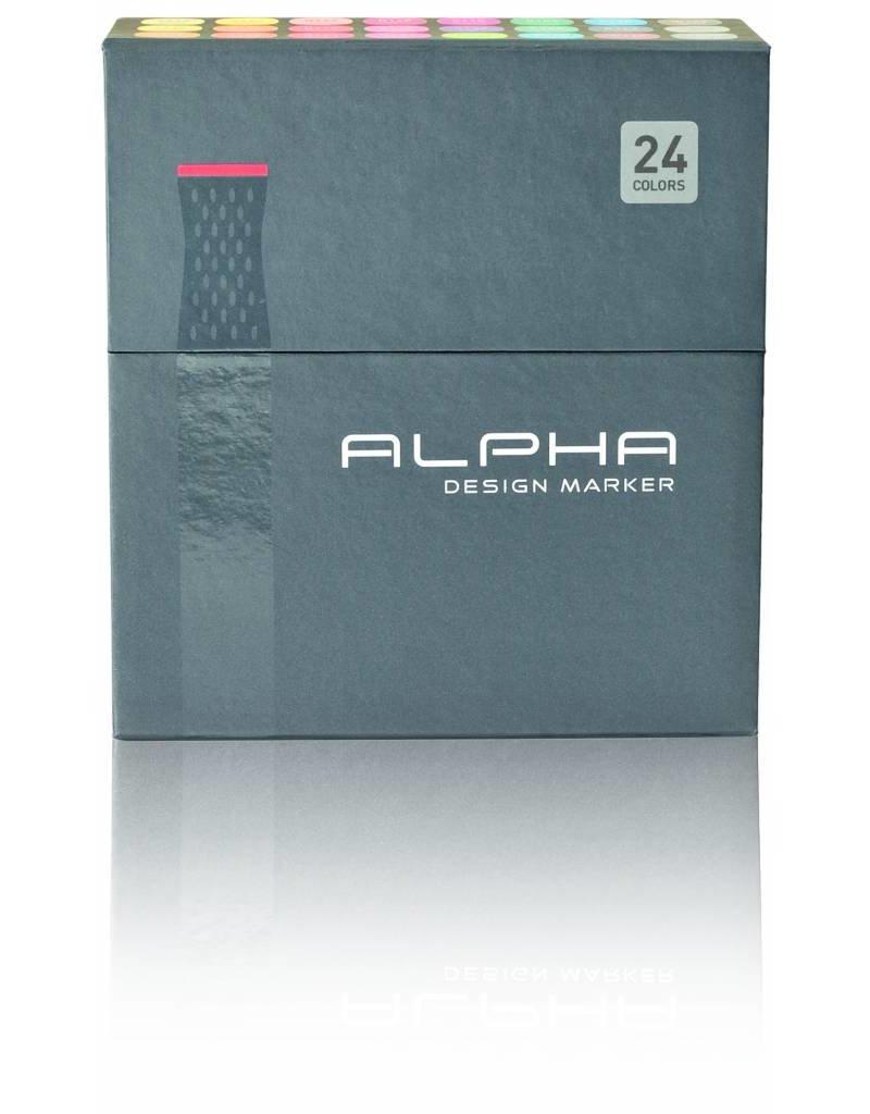 Alpha DESIGN MARKER 24er Main Color Set