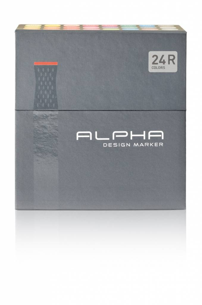 Alpha DESIGN MARKER 24er R Color Set