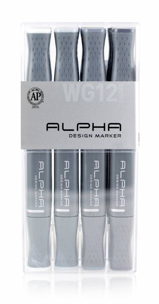 Alpha DESIGN MARKER 12er Warm Grey Set