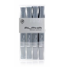 Alpha DESIGN MARKER 12er Toner Grey Set