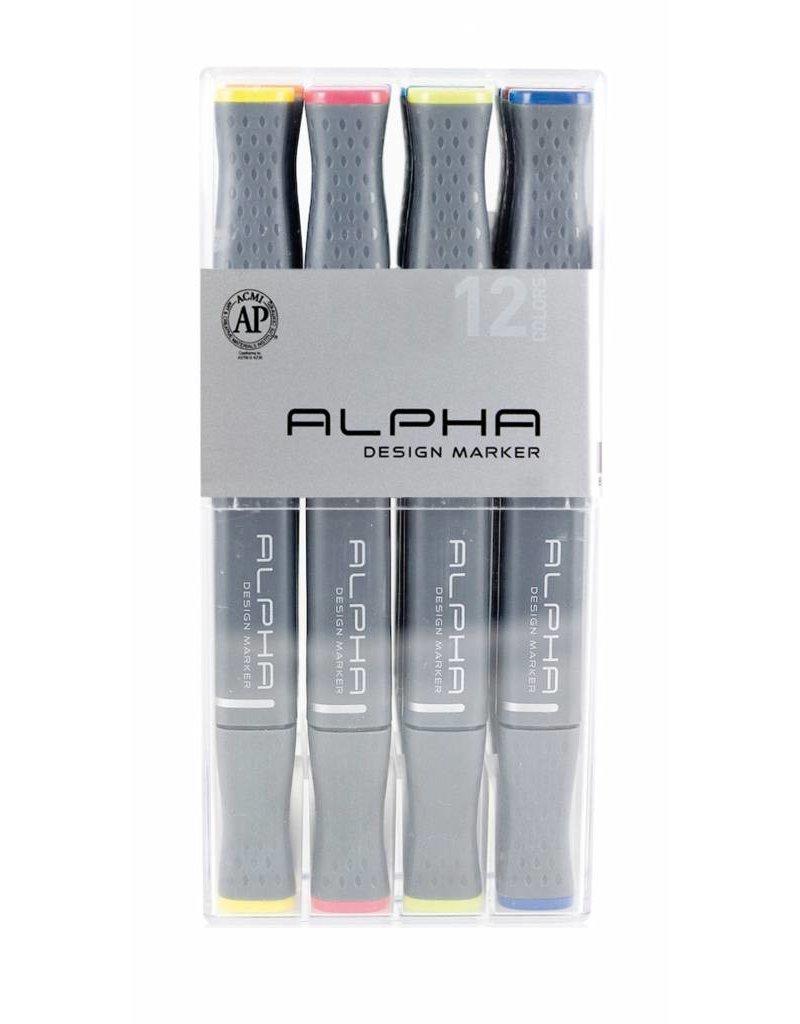 Alpha DESIGN MARKER 12er Main Color Set