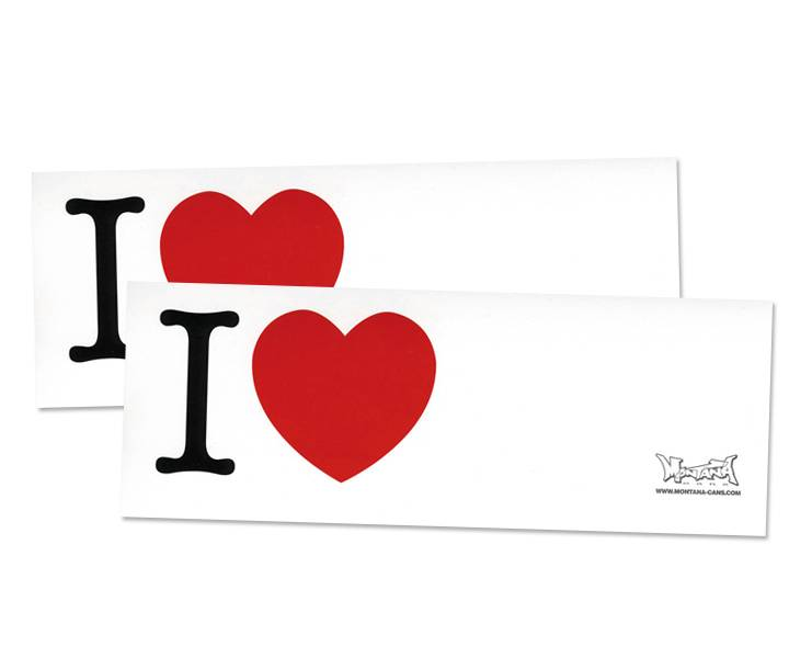 Montana I LOVE... Sticker 100 Stk.