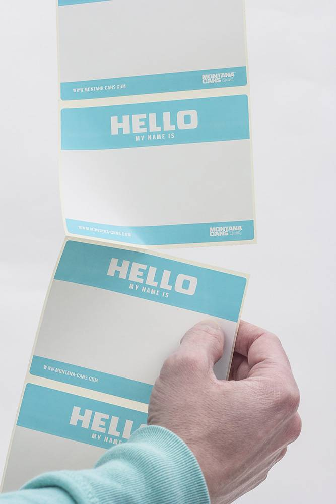 Montana HELLO MY NAME Roll of Stickers