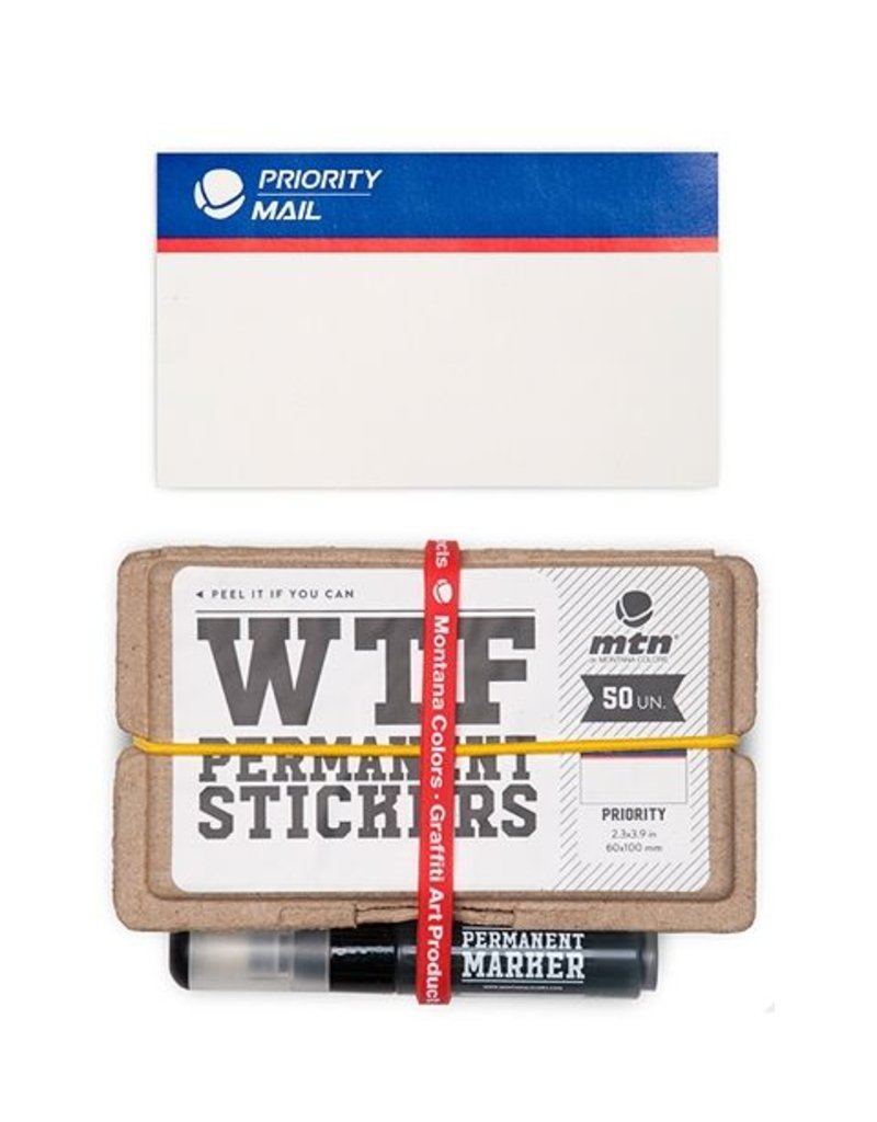 MTN Colors WTF Permanent Stickers: Priority Mail