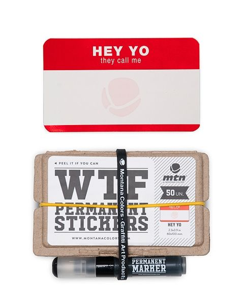 MTN Colors WTF Permanent Stickers: Hey Yo