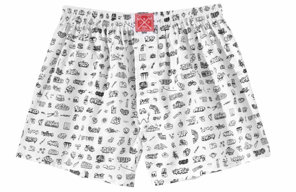 1UP Boxershorts 1upLivin 2.0 weiss