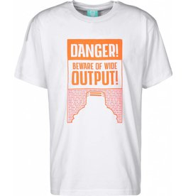 Montana T-Shirt Danger Ultra Wide - White / Orange