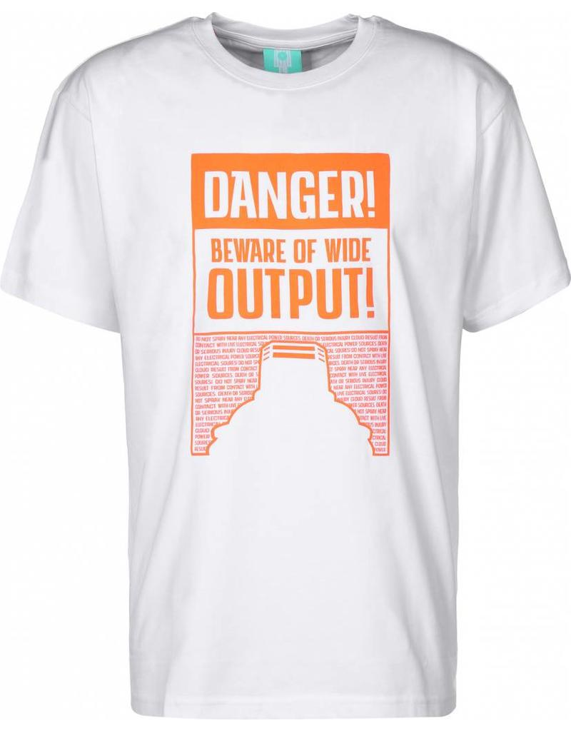 Montana T-Shirt Danger Ultra Wide - White / Orange