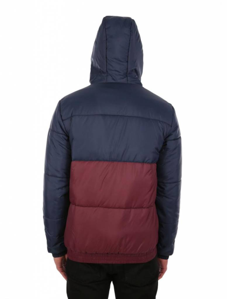 Iriedaily STAGGER HOOD Jacket - navy red