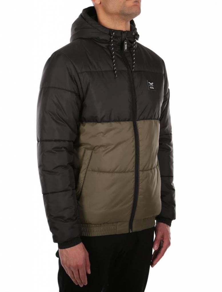 Iriedaily STAGGER HOOD Jacket -black olive