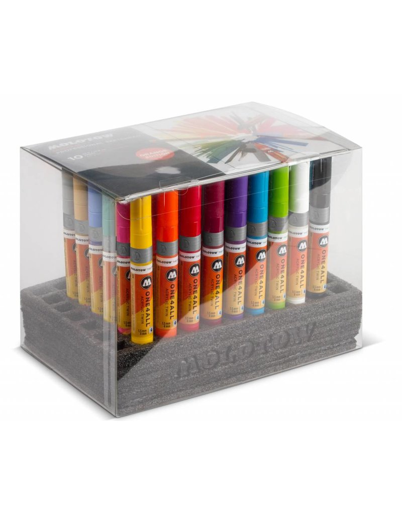 Molotow ONE4ALL Acrylic Twin 1,5/4mm Complete Set