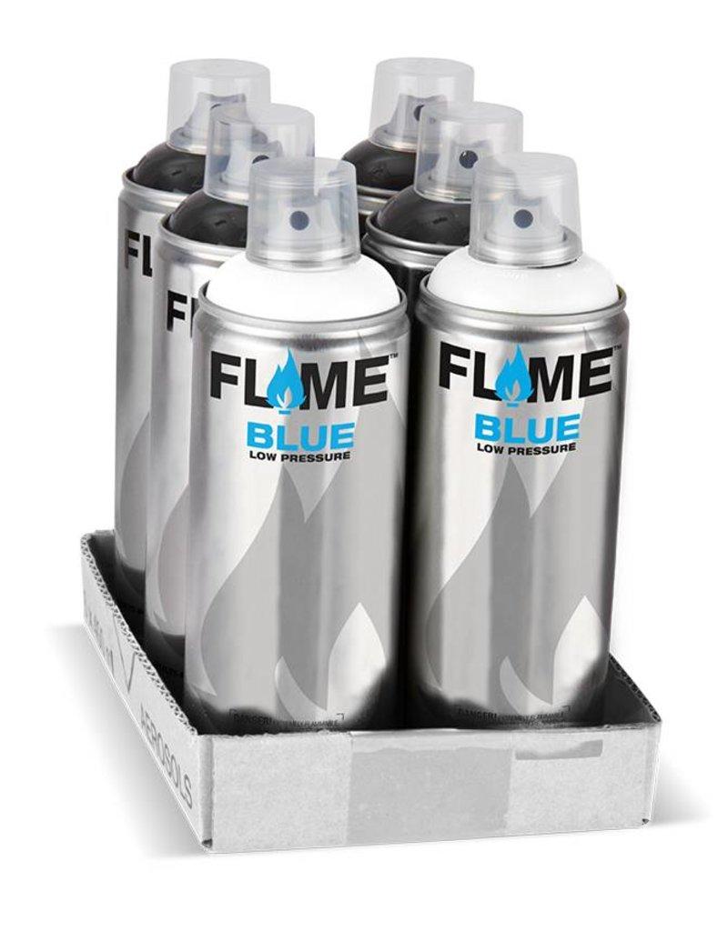 Flame BLUE 400ml Set black / white